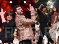 Shah Rukh Khan rehearses for his act at the 64th Vimal Elaichi Filmfare Awards