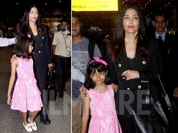 Aishwarya Rai Bachchan returns from Cannes with daughter Aaradhya