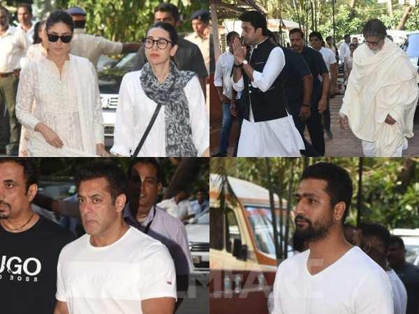 Veeru Devgan prayer meet: Bollywood stars pay their respects