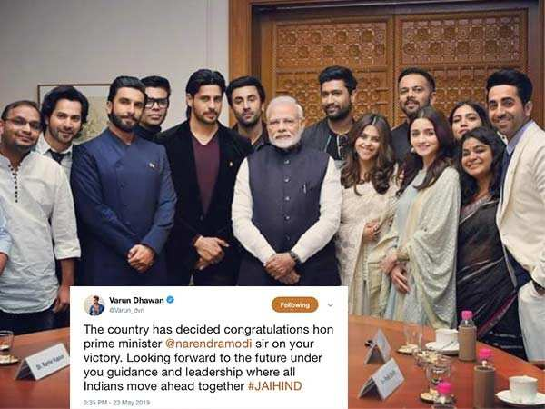 Bollywood reacts to the results of the Lok Sabha Election 2019