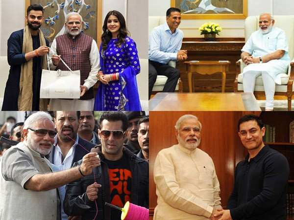 10 pictures of Bollywood stars with Prime Minister Narendra Modi
