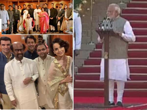 Pictures of Bollywood stars straight from PM Modi's swearing-in ceremony
