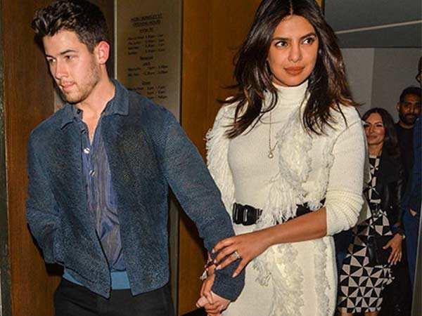 Priyanka Chopra and Nick Jonas enjoy a date night in London