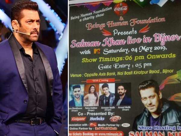 Salman Khan calls out charity event that is using his name falsely