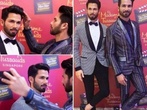 Shahid Kapoor unveils his wax statue at Madame Tussauds Singapore