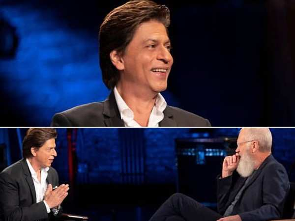 Shah Rukh Khan shoots with ace television host David Letterman in New York