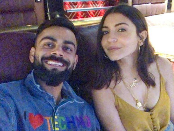 Anushka Sharma and Virat Kohli enjoy a movie night together