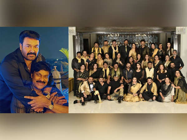 Inside pictures from the big South film industry reunion hosted by Chiranjeevi