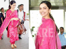 Spotted : Deepika Padukone looking pretty in pink at the airport