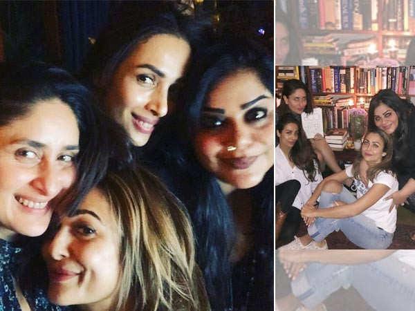 Kareena Kapoor Khan enjoys her girls night out with BFFs Amrita Arora and Malaika Arora