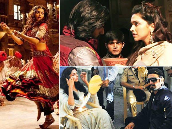 10 pictures of Ranveer Singh & Deepika Padukone from the sets of Ram Leela
