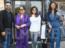 Shilpa Shetty Kundra steps out for her usual Sunday lunch with her family