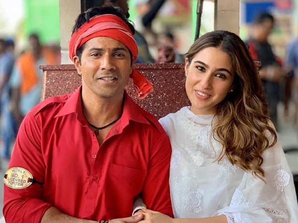 Varun Dhawan and Sara Ali Khan bond on the sets of Coolie No 1