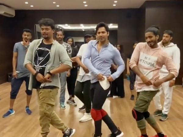 Varun Dhawan shares a hilarious video from the dance prep of Coolie No 1