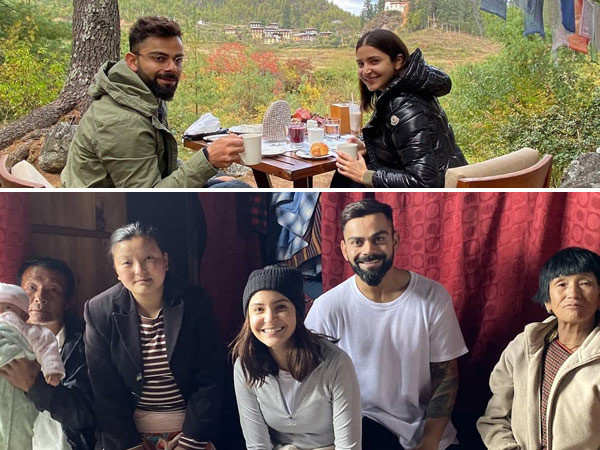 Anushka Sharma rings in Virat Kohli's birthday on a trekking trip in Bhutan