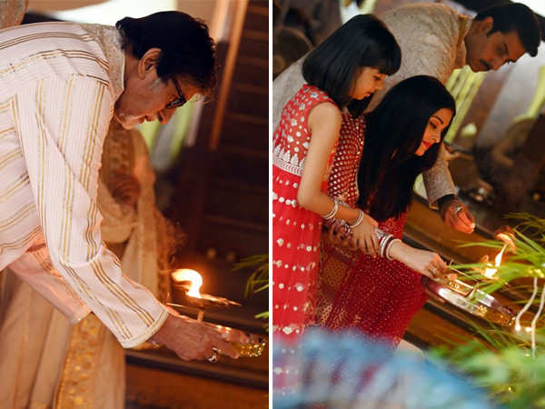 Amitabh Bachchan gives us a glimpse of his family performing Lakshmi pooja