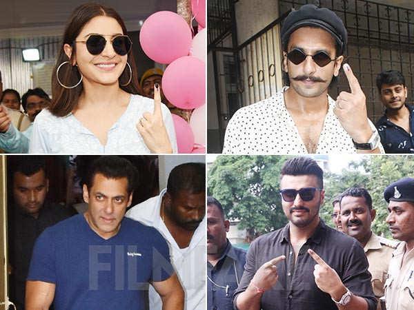 Salman Khan, Anushka Sharma, Arjun Kapoor, Ranveer Singh cast their vote