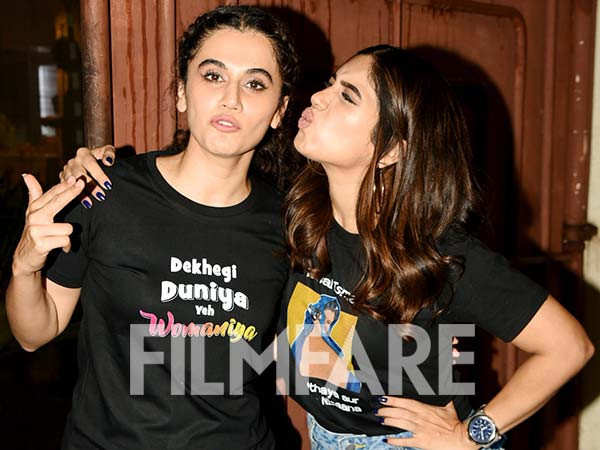 Pictures: Taapsee Pannu and Bhumi Pednekar host a special screening of Saand Ki Aankh
