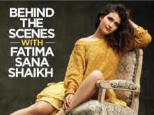 Behind the scenes with Fatima Sana Shaikh