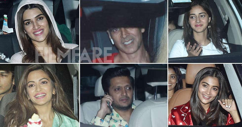 Akshay Kumar, Kriti Sanon, Ananya Panday and more watch Housefull 4 together