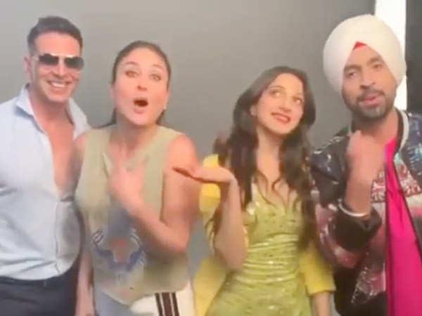 Video: Kareena Kapoor Khan, Kiara Advani and Diljit Dosanjh take Akshay Kumar's Bala challenge