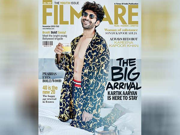 Kartik Aaryan sports his million dollar smile on the latest over of Filmfar