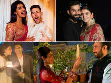 Pictures of celebrities celebrating Karwa Chauth
