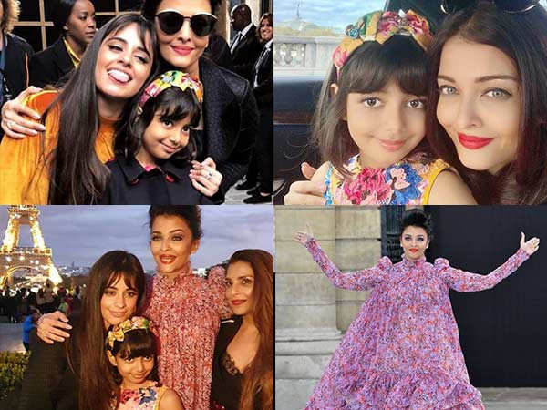 All pictures of Aishwarya Rai Bachchan and Aaradhya Bachchan from Paris