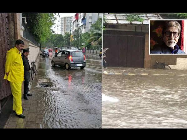 The Bachchan's Mumbai residence suffers hugely because of Mumbai rains