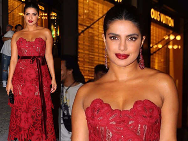 Photos: Priyanka Chopra's ritzy red gown is a total winner