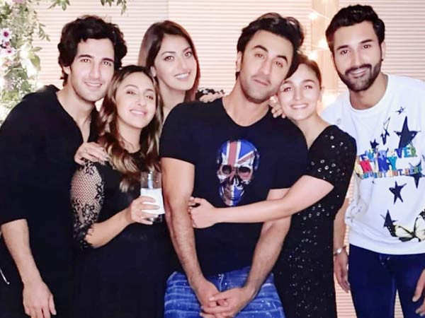 Ranbir, Alia caught hugging each other at friend's birthday party; see pics