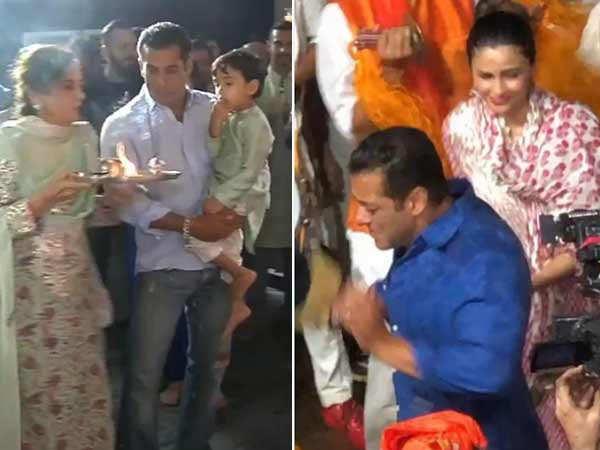 10 videos of Salman Khan dancing at sister Arpita Khan's Ganesh puja