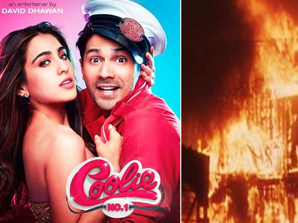 Fire breaks out on the sets of Varun Dhawan and Sara Ali Khan's Coolie No. 1