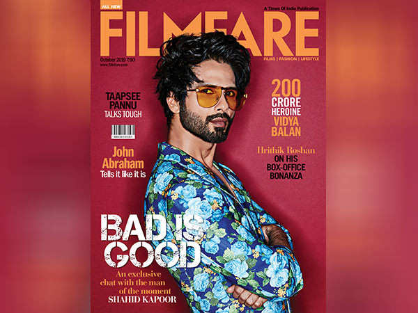 Presenting Shahid Kapoor on the latest cover of Filmfare