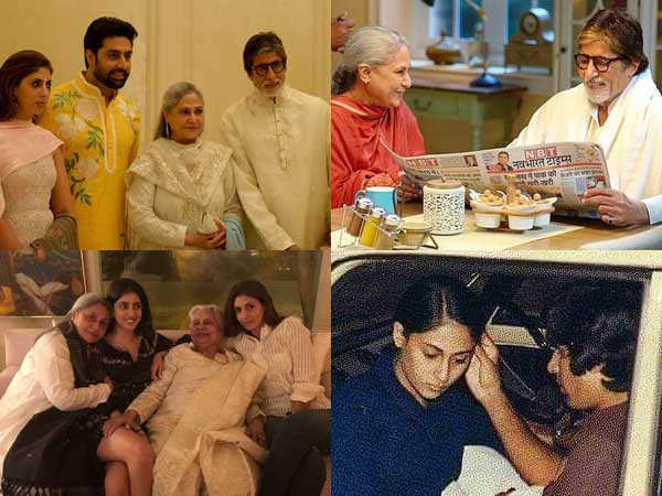 Here are some lovely pictures of Jaya Bachchan with her family