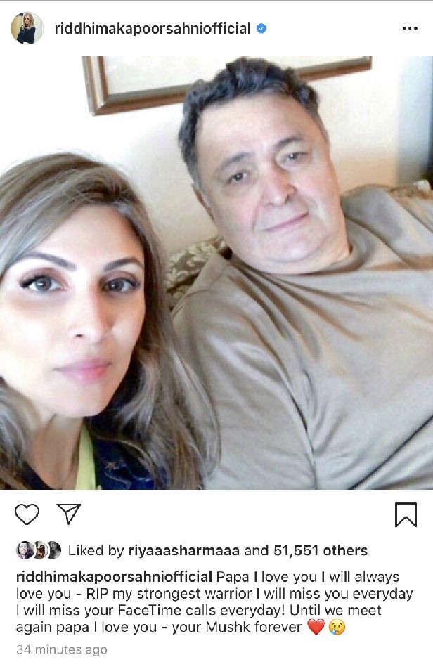 Riddhima Kapoor's message