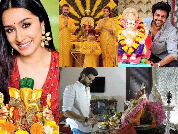 How Bollywood stars have celebrated Ganesh Chaturthi over the years