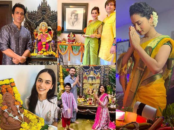 Bollywood stars welcome Ganpati Bappa into their homes on Ganesh Chaturthi