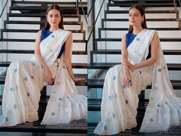 Dia Mirza proves there is nothing chicer than a cotton saree