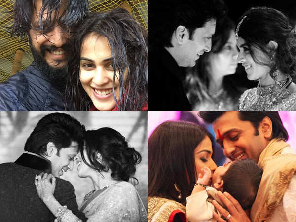 Awesome pictures of birthday girl Genelia D'Souza with Riteish Deshmukh