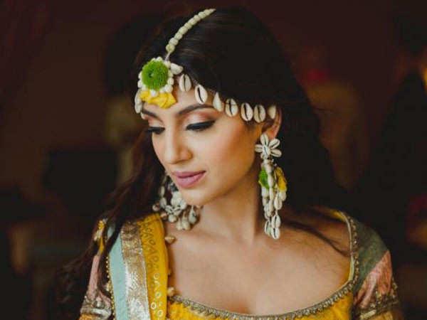 Pictures: Miheeka Bajaj Opts for a Stunning Yellow Lehenga for her Haldi