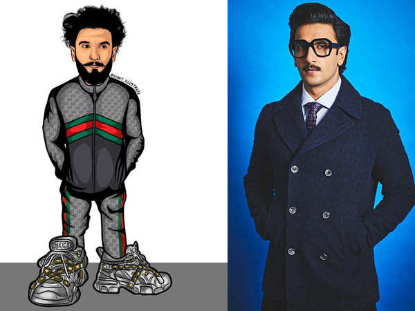 This Illustration of Ranveer Singh is Amazing