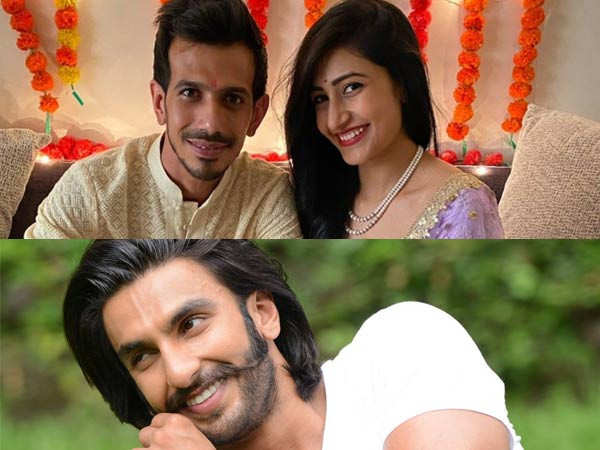Ranveer Singh Sends Out his Well wishes to Yuzvendra Chahal
