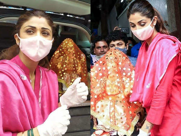 Pictures: Shilpa Shetty Kundra brings Lord Ganesha home