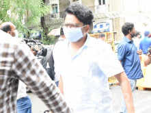 Siddharth Pithani arrives at the Enforcement Directorate office