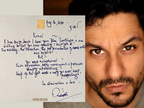 Amitabh Bachchan Sends Hand-Written Note to Kunal Kemmu for his Performance in Lootcase