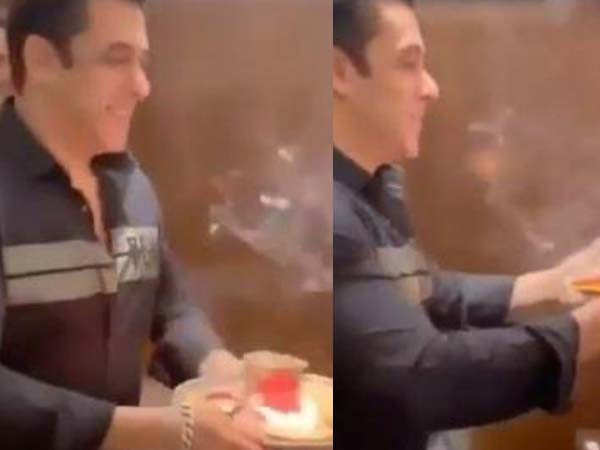 Watch this video of Salman Khan doing the Ganesh aarti