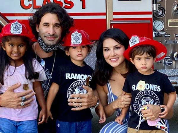 Sunny Leone's little munchkins learn a life lesson
