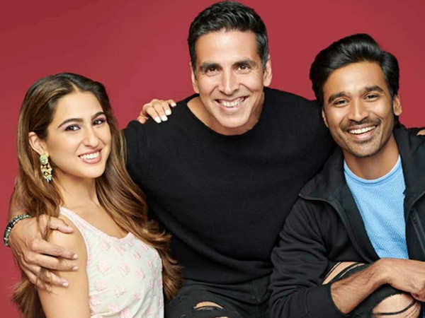 Video: Akshay Kumar, Sara Ali Khan and Dhanush shoot for a song sequence