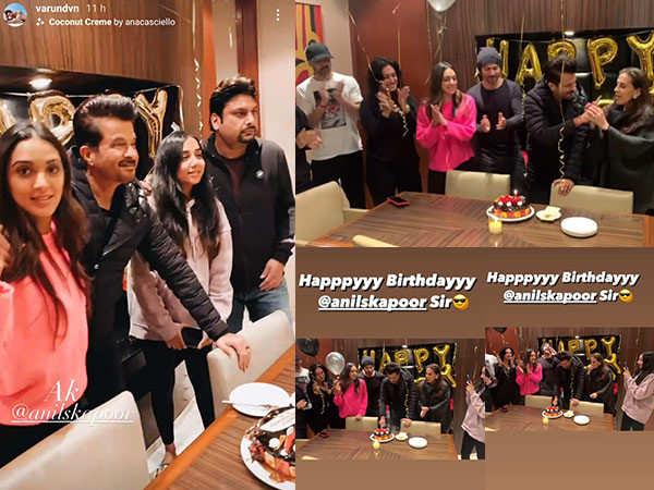 Anil Kapoor celebrates his birthday on the set of Jug Jugg Jeeyo with Varun Dhawan, Kiara Advani